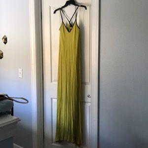 Armani Exchange yellow maxi dress